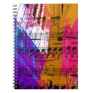 muziek, pianodecor (12) ringband notitie boek