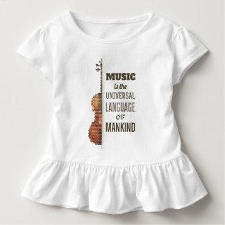 Muziek Universele Taal   het T-shirt van de Ruche