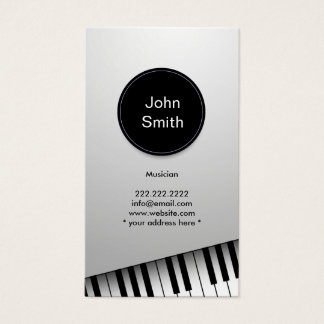 Muziek van de Musicus van de Pianist van het Visitekaartjes