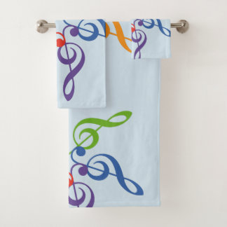 Muziek van de Zon van de regenboog de Zeer Bad Handdoek