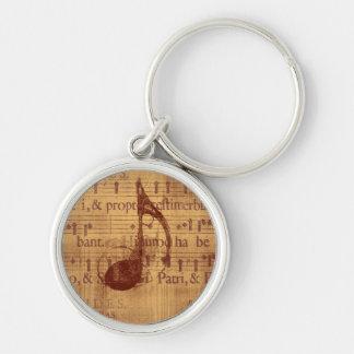 Muzieknoot Sleutelhanger