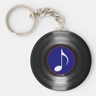 muzieknoot vinyl sleutelhanger