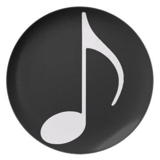 muzieknoot ~ zwarte melamine+bord
