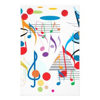 Muzieknoten Aangepast Briefpapier