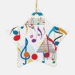Muzieknoten Kerst Ornamenten