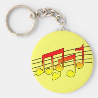 muzieknoten zeer belangrijke keten sleutelhanger