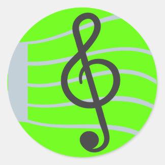 Muzikaal Blad Emoji Ronde Sticker