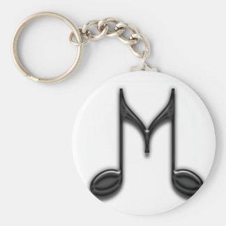 "Muzikaal Symbool ""M "" Sleutelhanger"