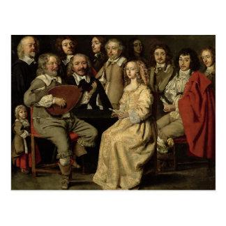 Muzikale Bijeenkomst, 1642 Briefkaart