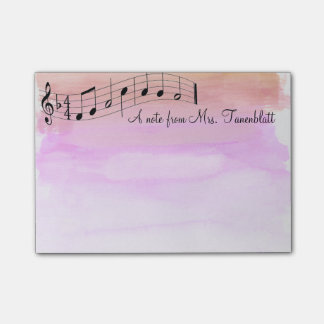 Muzikale blocnotewaterverf post-it® notes