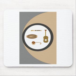 muzikale instrumenten muismatten