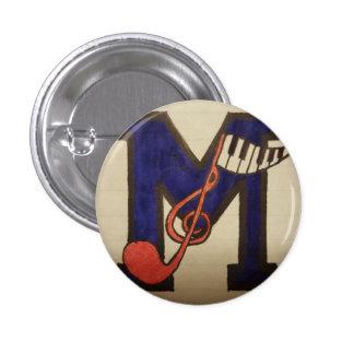 Muzikale Knoop Ronde Button 3,2 Cm