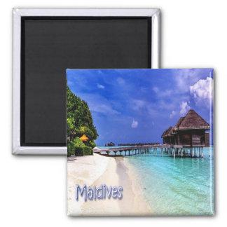 MV - de Maldiven - de Maldiven Vierkante Magneet