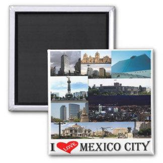 MX - Mexico - Mexico-City - de Collage van het Vierkante Magneet