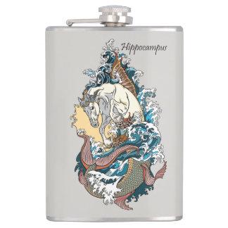 mythologische seahorse heupfles