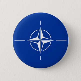 N.A.T.O. vlag Ronde Button 5,7 Cm