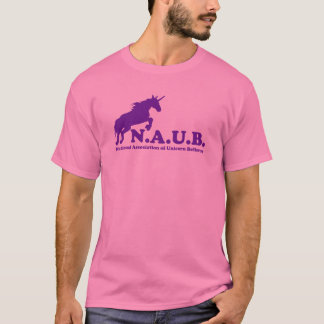 N.A.U.B de Gelovigen van de eenhoorn T Shirt
