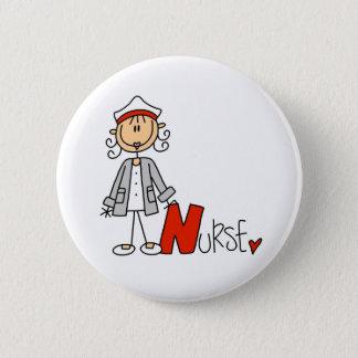 N is voor Verpleegster Ronde Button 5,7 Cm