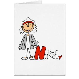 N is voor Verpleegster Wenskaart