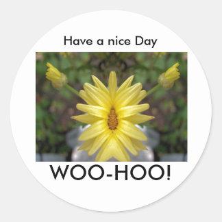 Na:streven-HOO! , Hebben een aardige Dag Ronde Sticker