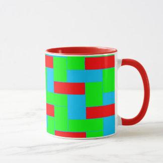 Naadloos Kleurrijk Patroon van Symmetrische Mok