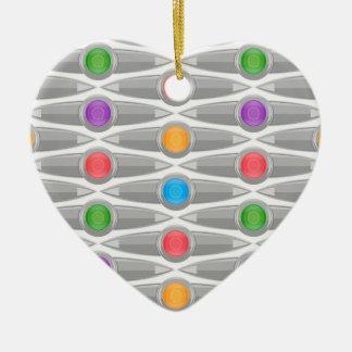 naadloos-patroon #10 keramisch hart ornament