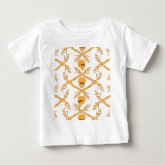 naadloos patroon met schedels en bot van de hand baby t shirts