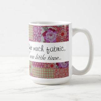 Naai veel stof, naai weinig tijd… koffiemok