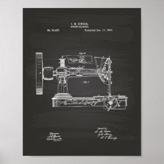 Naaimachine 1866 het Bord van de Kunst van het Poster