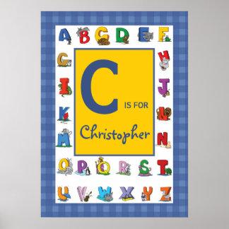 Naam/het Alfabet van de douane de Kinder Poster