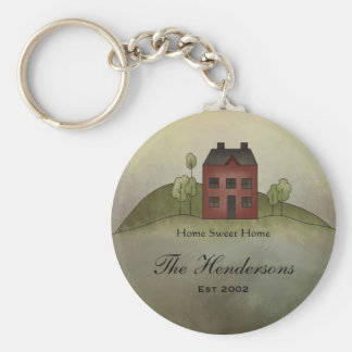 Naam Keychain van de Douane van het Huis van het h Sleutel Hanger