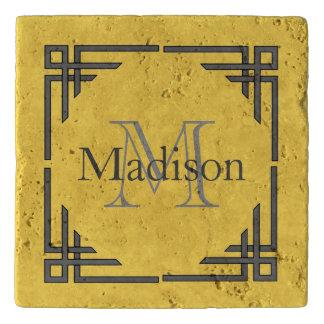 Naam van het Monogram van de Grens van de mosterd Trivet