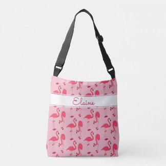 Naam van het Patroon van Elaine de Pink Flamingos Crossbody Tas