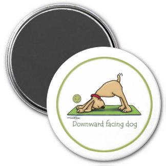 Naar beneden toegekeerde Hond - yogamagneet Ronde Magneet 7,6 Cm