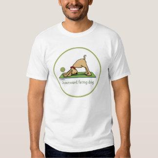 Naar beneden toegekeerde Hond - yogat-shirt Tshirts