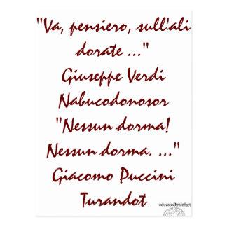 Nabucco & Turandot Briefkaart