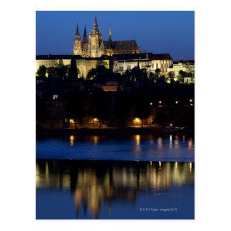 Nacht in Praag, Tsjechische Republiek Briefkaart