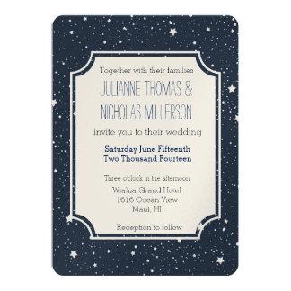 Nacht onder het Huwelijk van Sterren 12,7x17,8 Uitnodiging Kaart