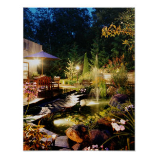 Nacht-tuin, op canvis poster