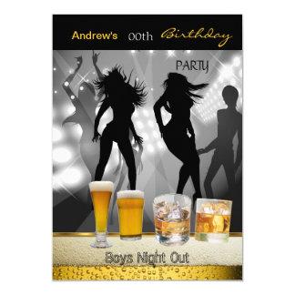 Nacht uit 3 van de Jongens van het Bier van de 12,7x17,8 Uitnodiging Kaart