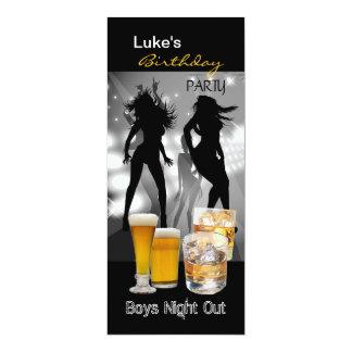 Nacht uit lang 2 van de Jongens van het Bier van 10,2x23,5 Uitnodiging Kaart