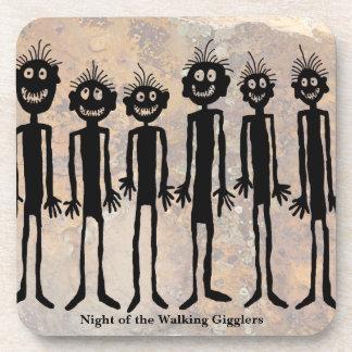 Nacht van de het Lopen Rotstekening Gigglers Drankjes Onderzetter