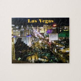 Nacht van het Uitzicht van de Strook van Las Vegas Legpuzzel