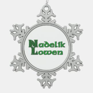 Nadelik Lowen - Sneeuwvlok de Van Cornwall van Tin Sneeuwvlok Ornament