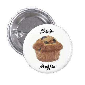 Nagel-muffin kenteken ronde button 3,2 cm