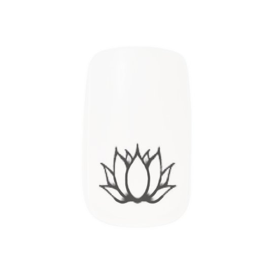 nagels met lotus minx nail art