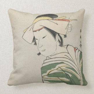 Nakamura Noshio II als Tonase, 1795 Sierkussen
