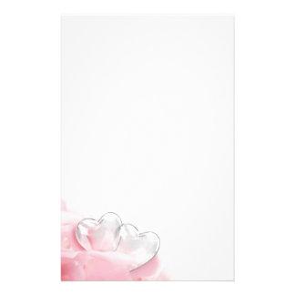 Nam Bloemblaadjes met de Harten van het Glas - Briefpapier