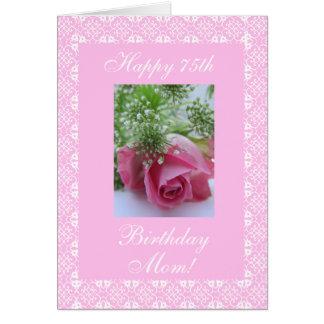 Nam de 75ste verjaardag van de moeder toe briefkaarten 0