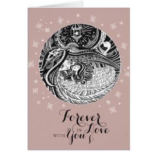 Nam de Gouden kaart van Valentijn van de ENGEL